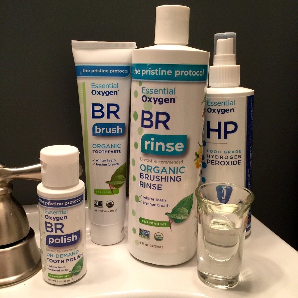 Essential Oxygen Oral Care Products-Organic Brushing Rinse, Organic Toothpaste, On-Demand Tooth Polish