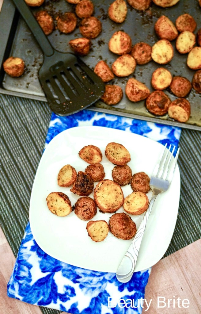 Oven Ranch Potatoes on a plate