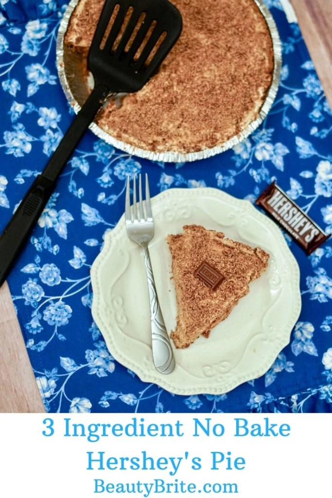 3 Ingredient No Bake Hershey's Pie