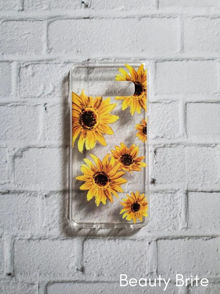 Bright Yellow Sunflowers Clear Case