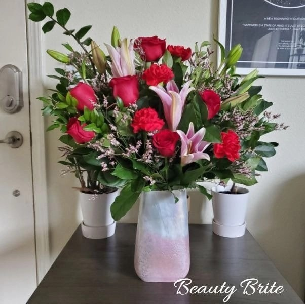 Bring Love For Valentines Day With Pretty In Quartz Bouquet - social media