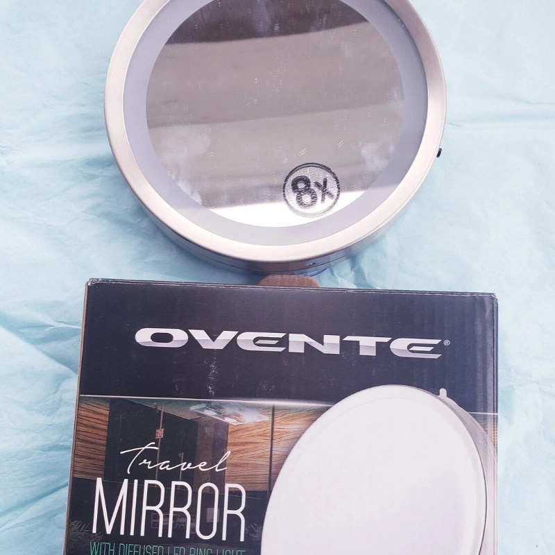 My daughter is always complaining about hotel mirrors, so I got her very own TRAVEL MIRROR! The Ovente Travel Size Lighted Vanity Mirror is perfect.