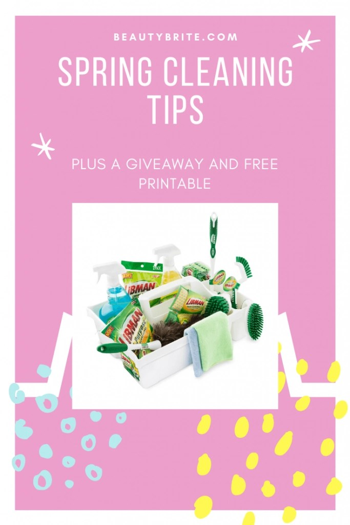 Spring Cleaning Tips (Giveaway and Free Printable)