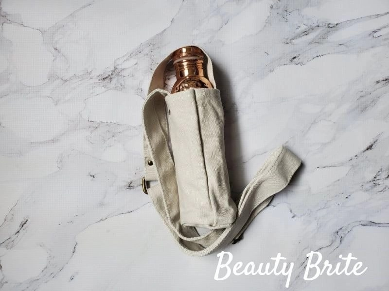Copper Water Bottle and Sling
