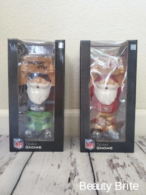 SF 49ers and Seattle Seahawks Mini Gnomes