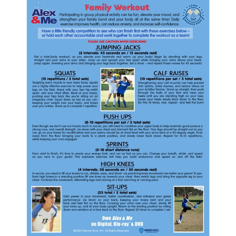 Week 6 #Campwarnerbros Alex & Me Activity Sheet