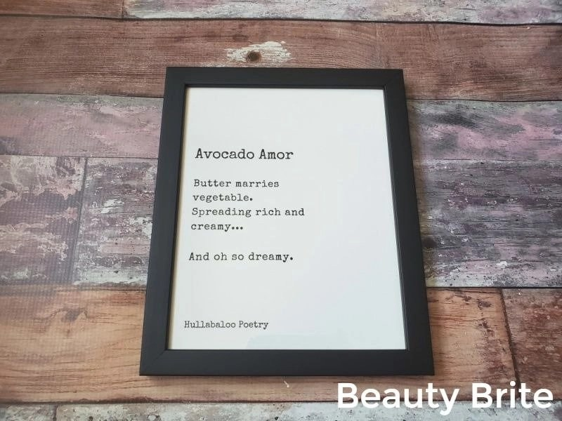 Avocado Amor Poetry Poster
