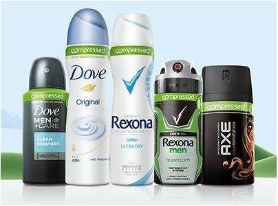 deodorant Rexona, Dove en Axe