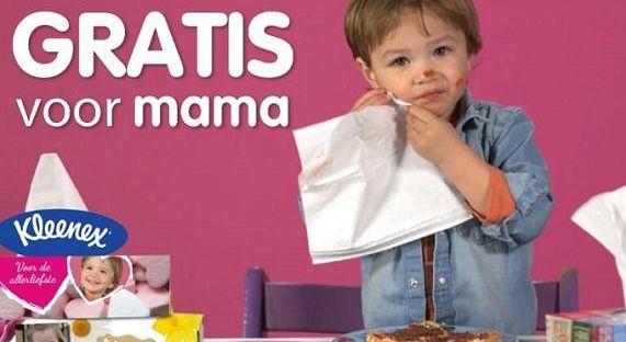Kleenex gratis voor mama moederdag