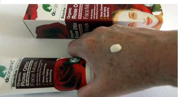 dr. organic rose otto face mask