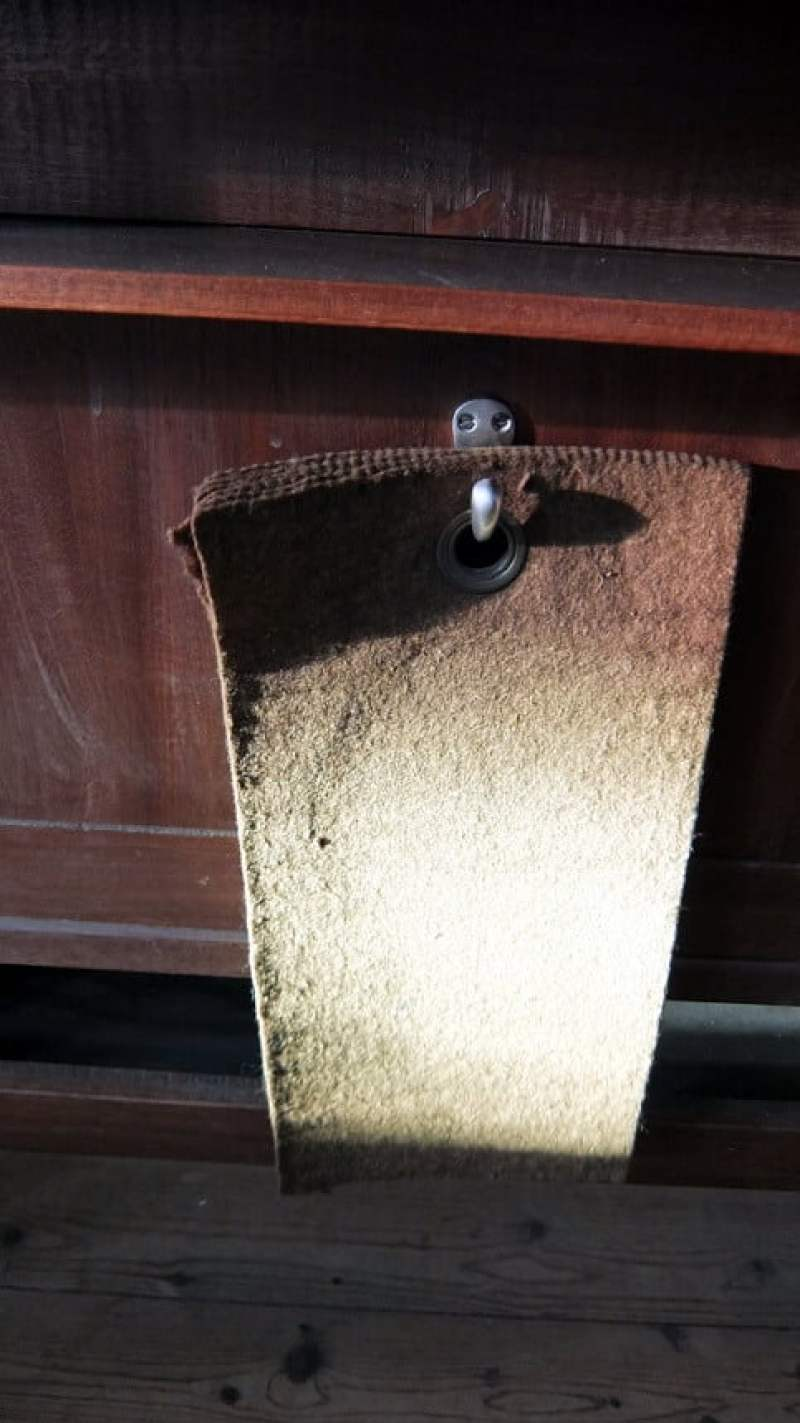 mat voor knie bidden Dominicuskerk