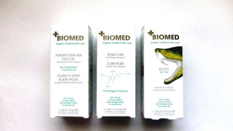 Biomed biotox, forget your age face oil, rosa cure