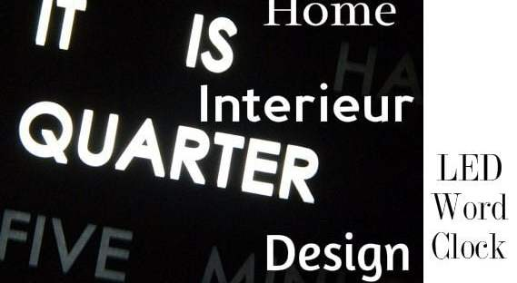 Design Word Clock met LED verlichting 71 verlichting Design Word Clock met LED verlichting Gadgets