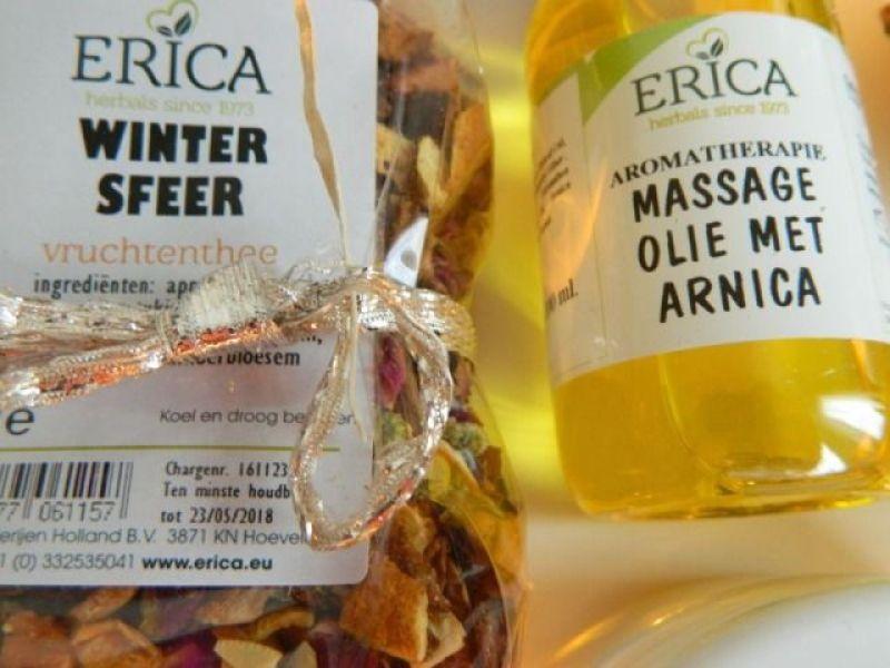 erica kruiderijen thee massage olie arnica