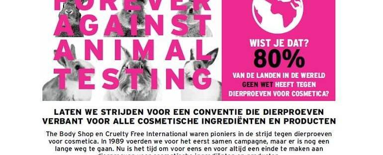 The Body Shop Forever Against Animal Testing u