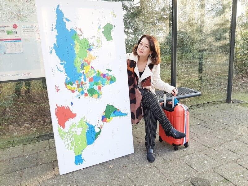 Wereldkaart? Check! Koffer? Check! Ga je mee op Reis? 17 wereldkaart Wereldkaart? Check! Koffer? Check! Ga je mee op Reis?