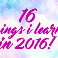 A Look Back at my First Year of Blogging - 16 Things I Learned in 2016!