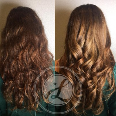 long hair color and highlights