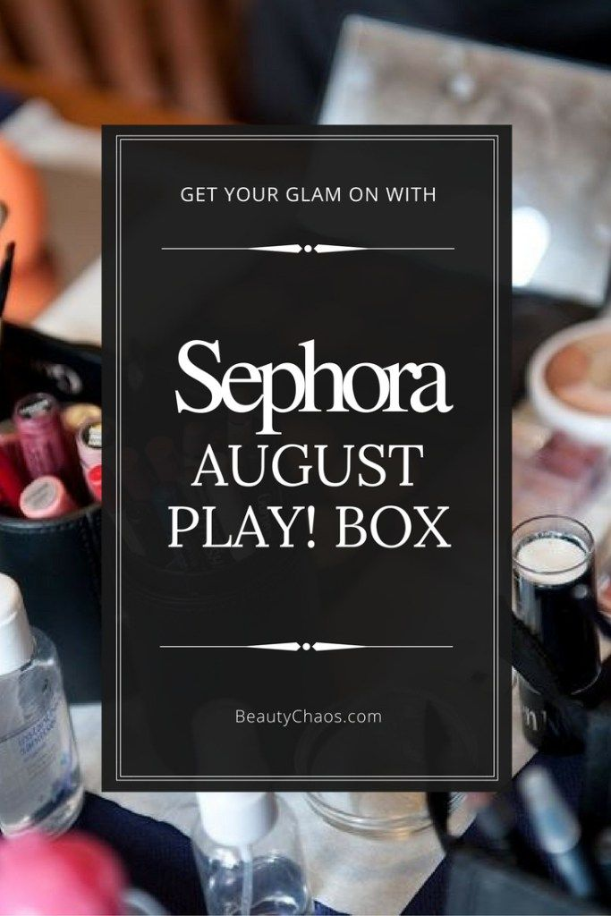 August Sephora Play! Box Pin - Beauty Chaos