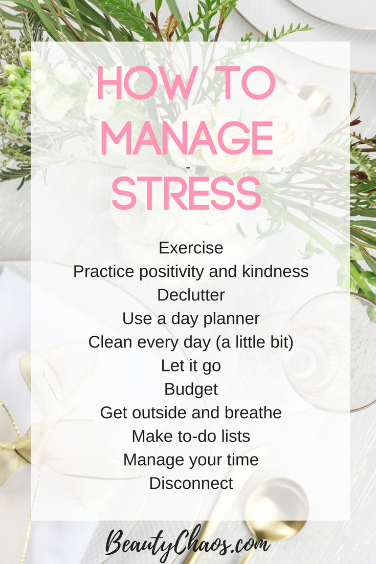 How to Manage Stress Pin - Beauty Chaos