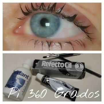 Tinte de pestañas ojos azules