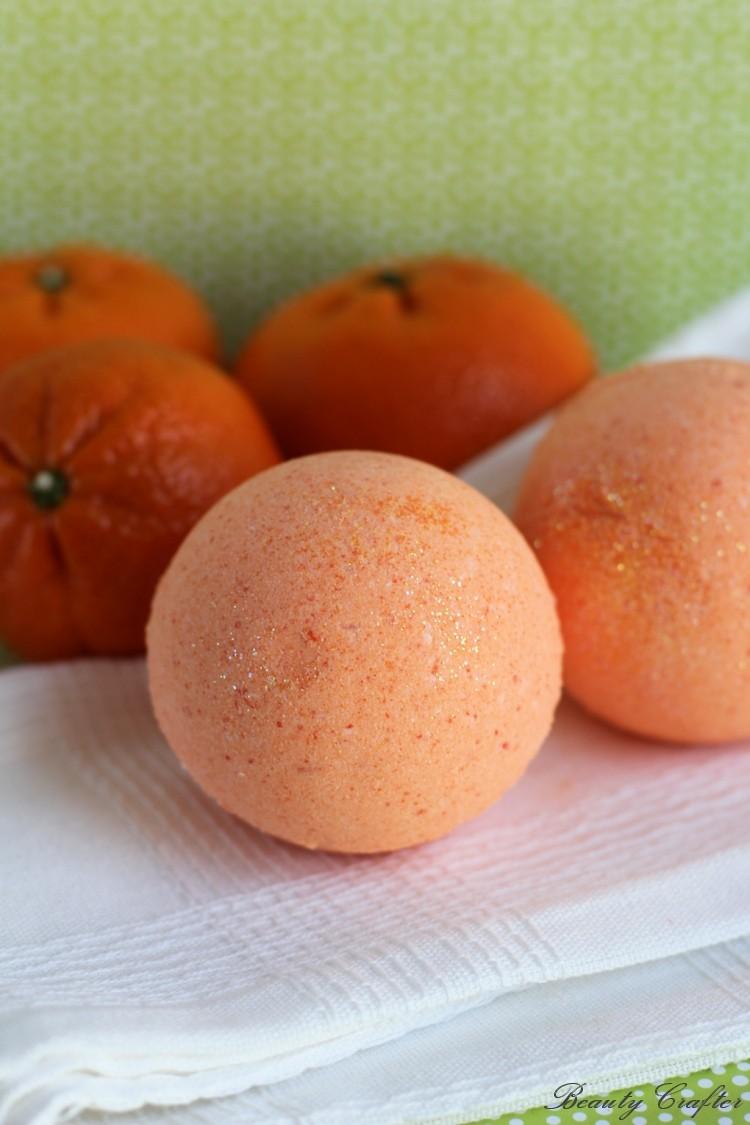 DIY Orange Bath Bombs Recipe