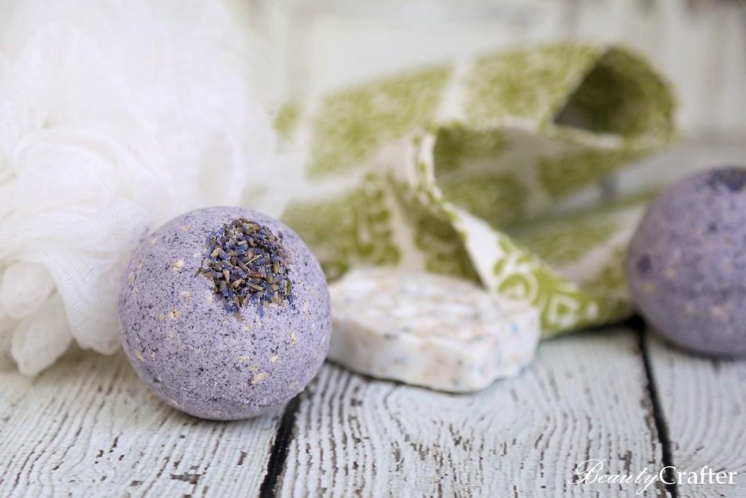 Lavender Oatmeal Bath Bombs Recipe