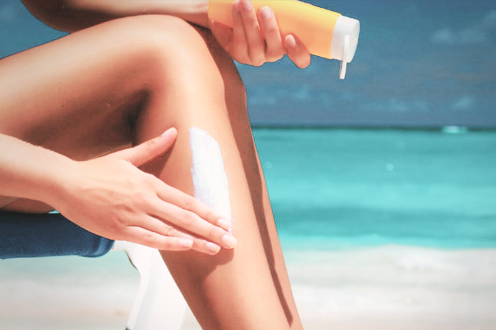 PREVENTS SUNBURN AND TANNING.