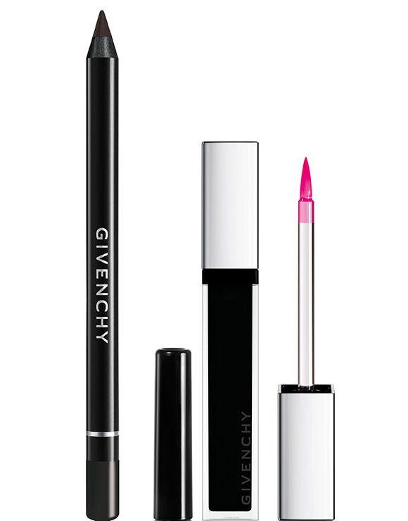 Лайнер для контура губ - Lip Liner N°12 Universel Noir Révélateur, блеск для губ - Givenchy Gloss Noir Révélateur