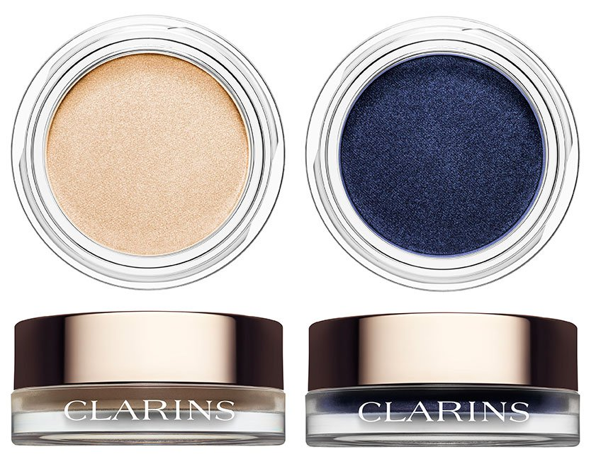 Пудровые крем-тени - Clarins Ombré Matte Cream-to-Powder Matte Eyeshadow 09 Ivory, 10 Midnight
