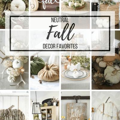 Neutral Fall Decor Favorites