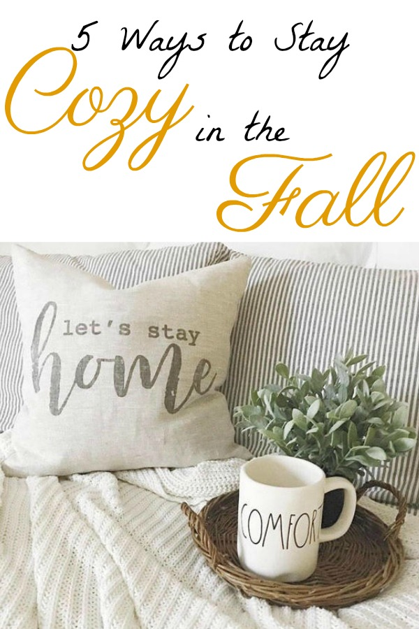 Fall is a season of creating a feeling of warmth and comfort. As the cool weather is approaching, I'm sharing 5 ways to stay cozy in the fall.