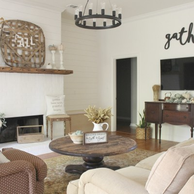 Farmhouse Living Room Progress + Life Lately