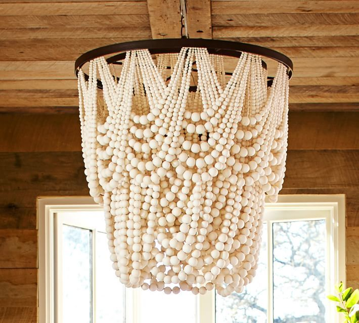 Wood bead chandelier from Pottery Barn