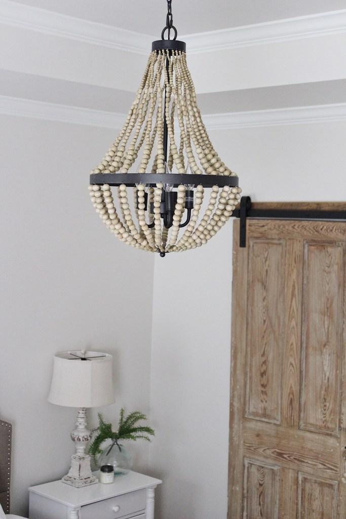 Wood bead chandelier from World Market