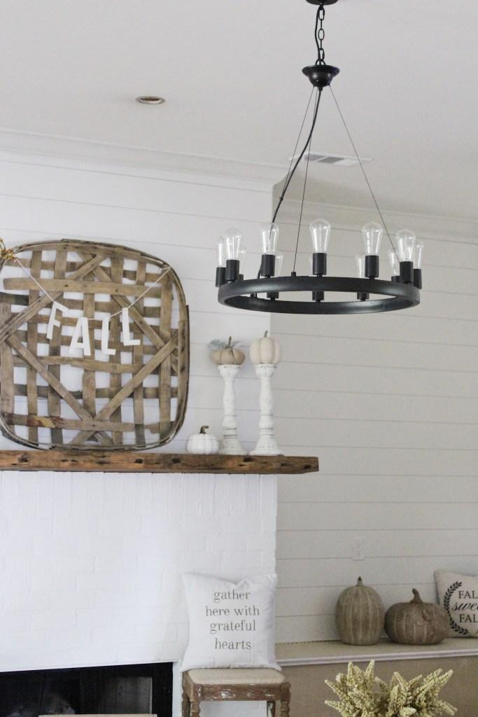 Farmhouse light fixture for the living room