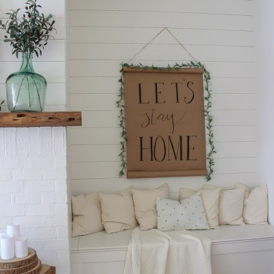 DIY Scroll Sign for Less Than $10