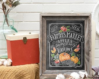 Fall Farmers Market Sign