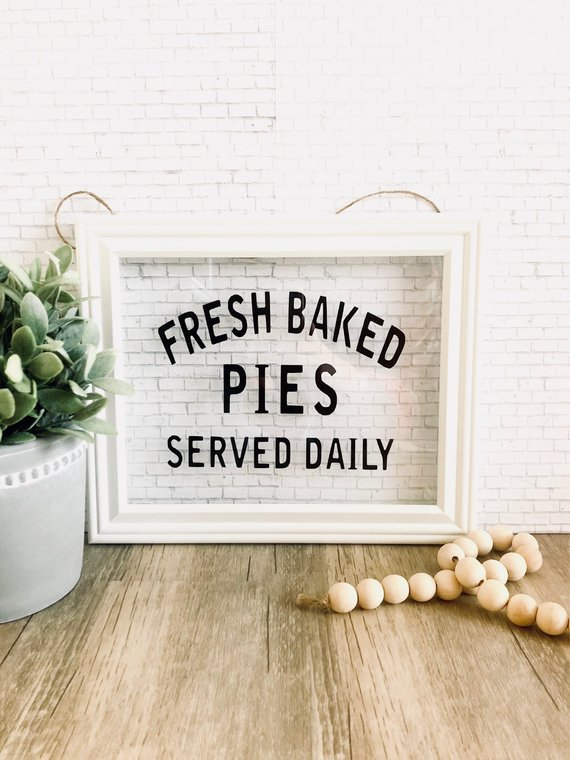 fresh baked pies sign