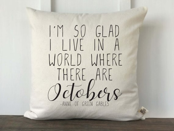World of Octobers pillow