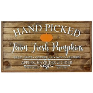 farm fresh pumpkin sign