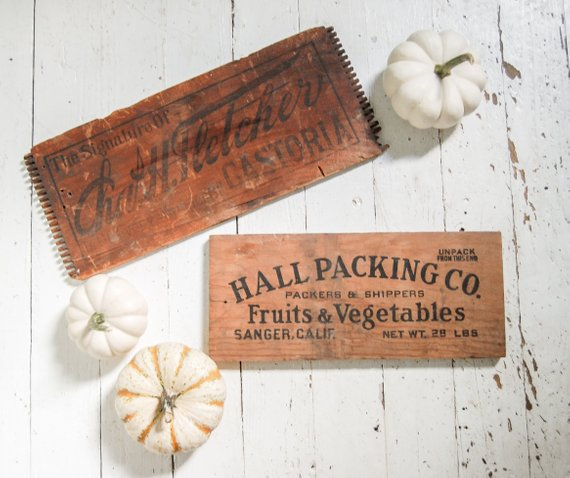 vintage fall sign