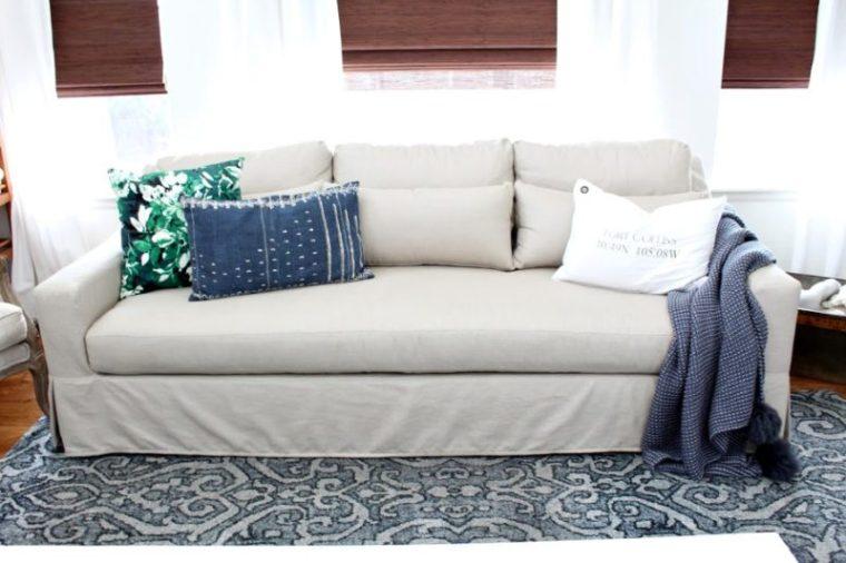 Pottery Barn Slip Cover Sofa