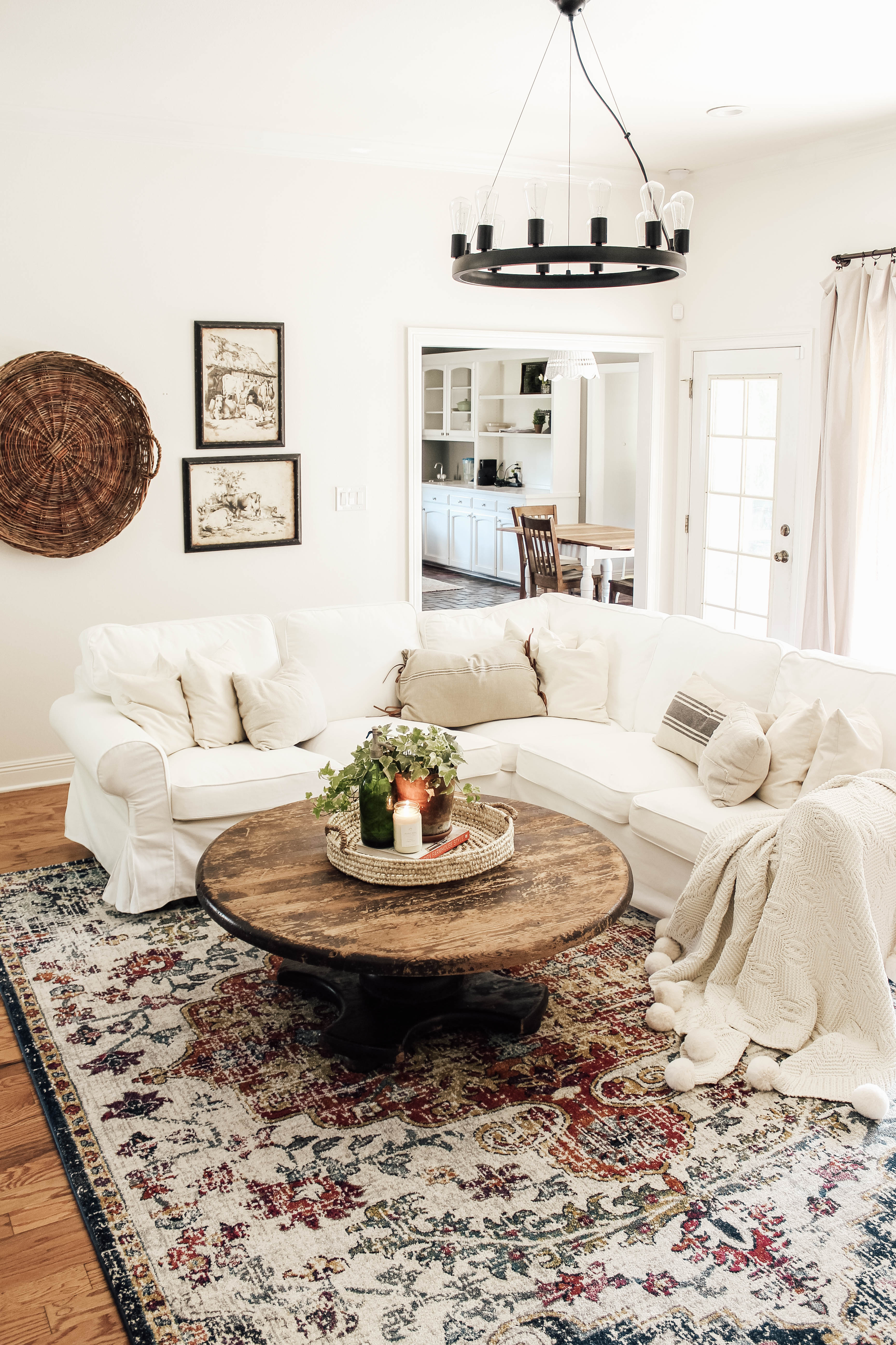 A new living room rug is an easy and inexpensive way to completely transform the look of your space!
