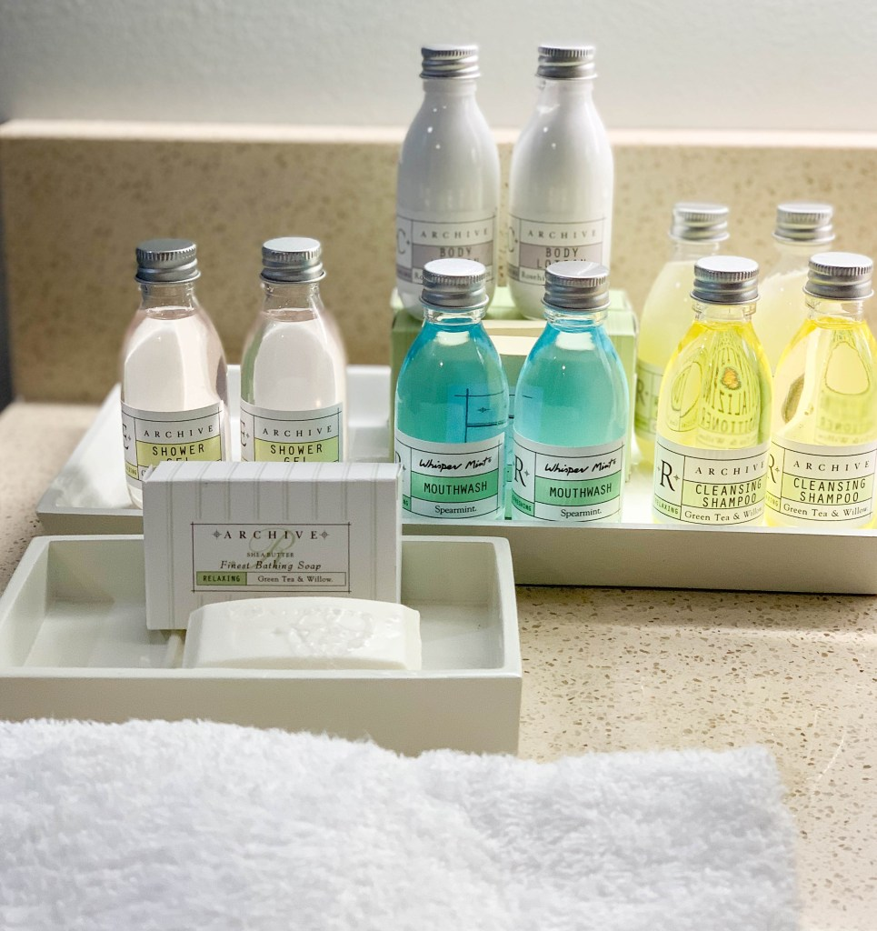 bath amenities at Margaritaville Resort