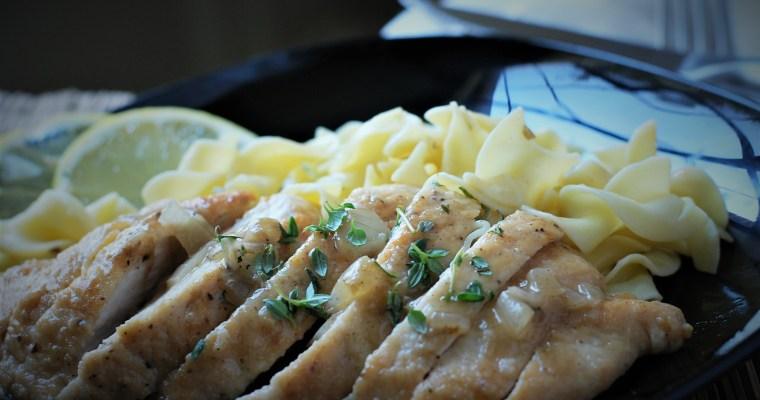 Chicken with Lemon Pan Sauce