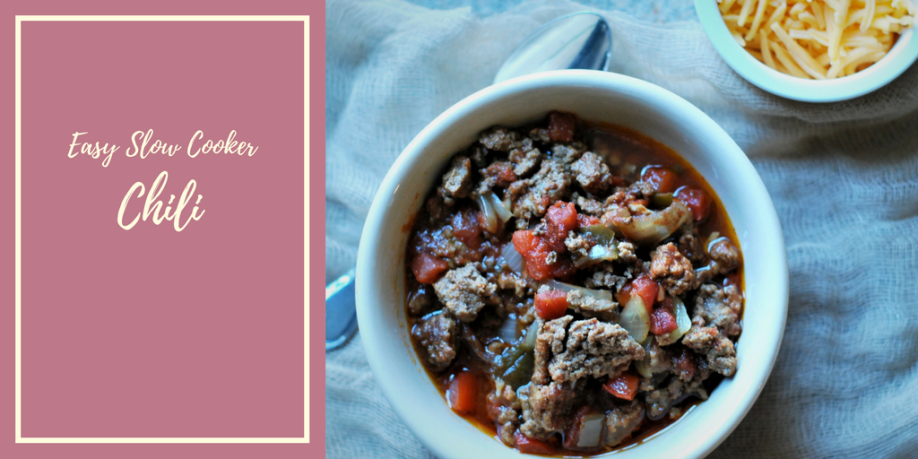 easy slow cooker chili graphic