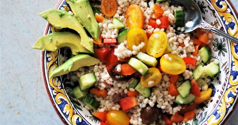 Vegetable Barley Salad with Lemon Dill Dressing