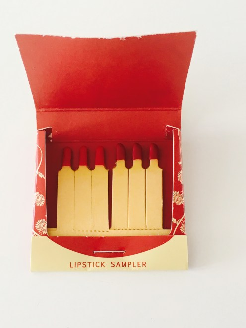 First three samples: Besame Red ; Last three samples: American Beauty
