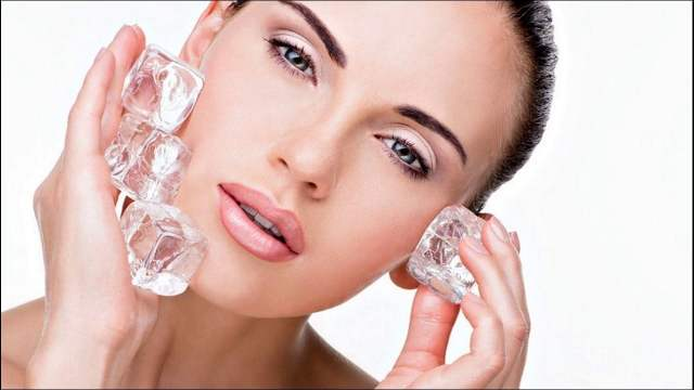 ice qube use on face